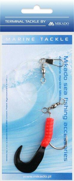 Mikado Meeres-Set - Pilk Twist Rig 5.5cm - Haken 4/0 - Rot und Schwarz
