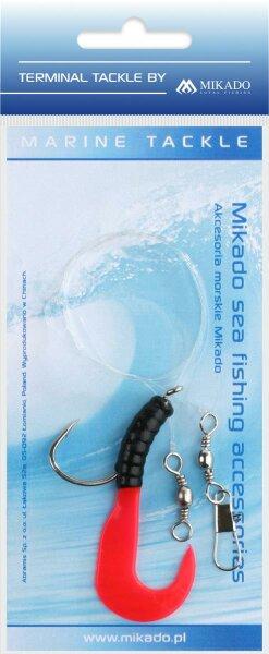 Mikado Meeres-Set - Pilk Twist Rig 5.5cm - Haken 4/0 - Schwarz und Rot