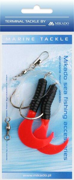 Mikado Meeres-Set - Pilk D-Twist Rig 7.5cm - Haken 2X6/0 - Rot Schwarz