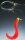 Balzer Pilksystem mit 1 japanroten Twister Hakengröße 1/0