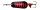 DAM Effzett Blinker 3.2CM 6G SINKING FLUO RED/BLACK UV