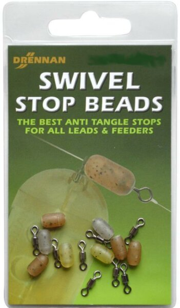 Drennan Swivel Stop Beads Gr.  9 Large 8 Stück