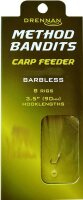 Drennan Method Bandits Carp Feeder Hair Rig Barbless Gr. 10  Vorfach-Ø 0,22mm 8
