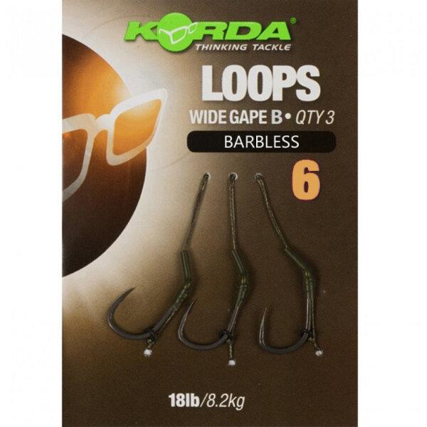 Loop Rigs DF Wide Gape Barbless (18lb) 6