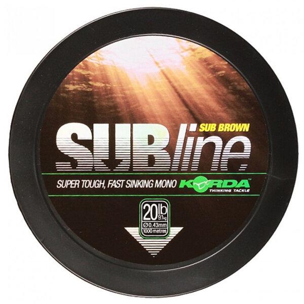 Subline Brown 12lb / 0.35mm 1000m