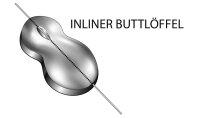 Buttlöffel Inline 80g silber
