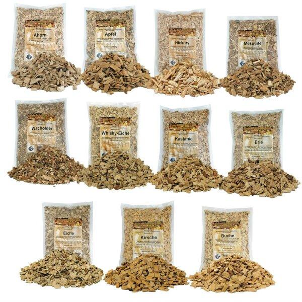 Räucher Chips für Smoker, Grill oder Räucherofen verschiedene Sorten